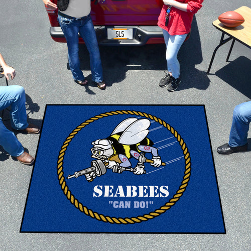 NAVY SEABEES TAILGATER MAT (5'X 6')