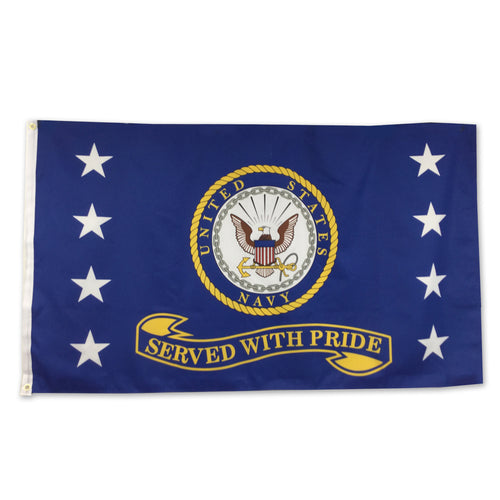 NAVY SERVED WITH PRIDE FLAG (3'X5') 1