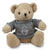 NAVY THEODORE BEAR (GREY KNIT SWEATER)