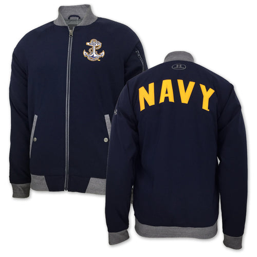 NAVY UNDER ARMOUR SOUVENIR JACKET (NAVY) 3