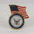 NAVY WAVING FLAG SEAL LAPEL PIN