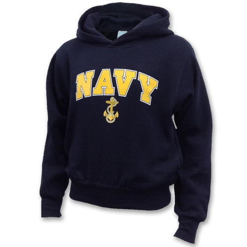 NAVY YOUTH ARCH ANCHOR HOOD (NAVY)