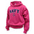 NAVY YOUTH ARCH ANCHOR HOOD (PINK)