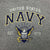 NAVY YOUTH EAGLE EST. 1775 T-SHIRT (GREY)