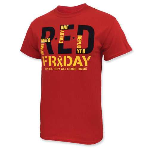 R.E.D. FRIDAY T-SHIRT (RED) 2
