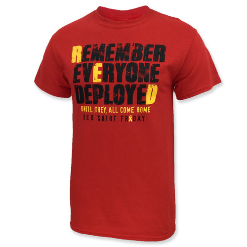 REMEMBER EVERYONE DEPLOYED T-SHIRT (RED) 2