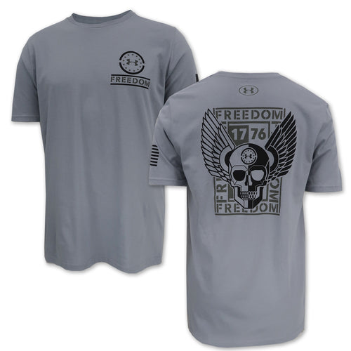 UNDER ARMOUR FREEDOM COMBAT READY T-SHIRT (GREY) 3