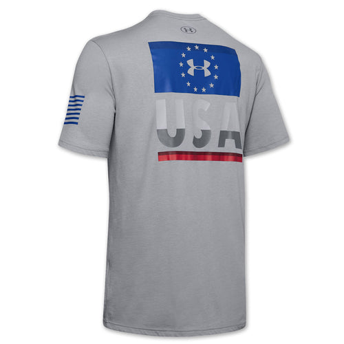 UNDER ARMOUR FREEDOM FIERCE COMPETITOR T-SHIRT (GREY) 1