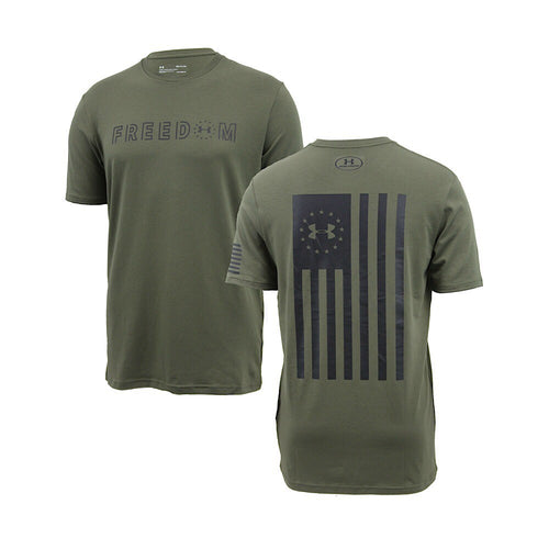 UNDER ARMOUR FREEDOM FLAG BOLD T-SHIRT (OD GREEN) 3