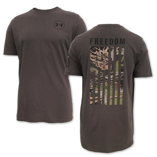 UNDER ARMOUR FREEDOM FLAG CAMO T-SHIRT (BROWN) 2