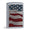 UNITED STATES FLAG DIAMOND PLATE CHROME ZIPPO LIGHTER 2