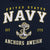 UNITED STATES NAVY ANCHORS AWEIGH HOOD (NAVY)