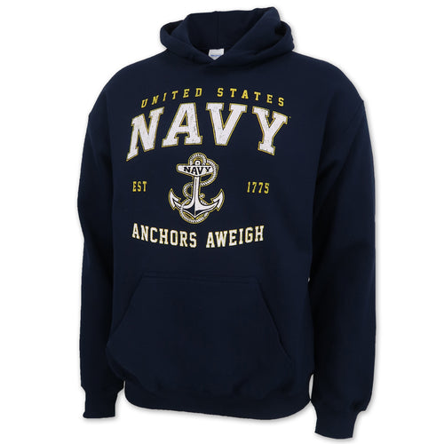 UNITED STATES NAVY ANCHORS AWEIGH HOOD (NAVY) 1