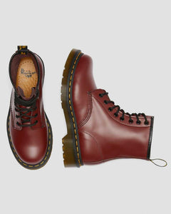 1460 WOMEN'S SMOOTH LEATHER LACE UP BOOTS CHERRY RED
