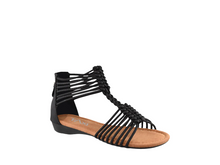 Load image into Gallery viewer, Taxi Strappy Sandal Black