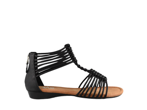 Taxi Strappy Sandal Black