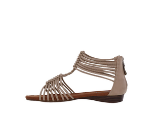 Taxi Strappy Sandal Nude