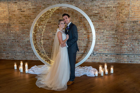 Bride and Groom with celestial decor