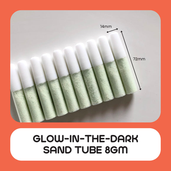 Glow-In-The-Dark Sand Tube 8gm 10pcs