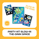 Party Kit Glow-In-The-Dark Space 20pcs