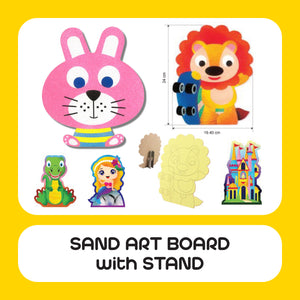 Sand Art Board with Stand 10pcs