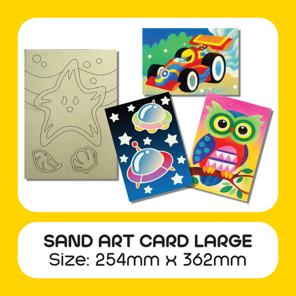 Sand Art Card Large 15pcs