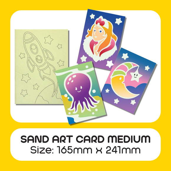 Sand Art Card Medium 25pcs