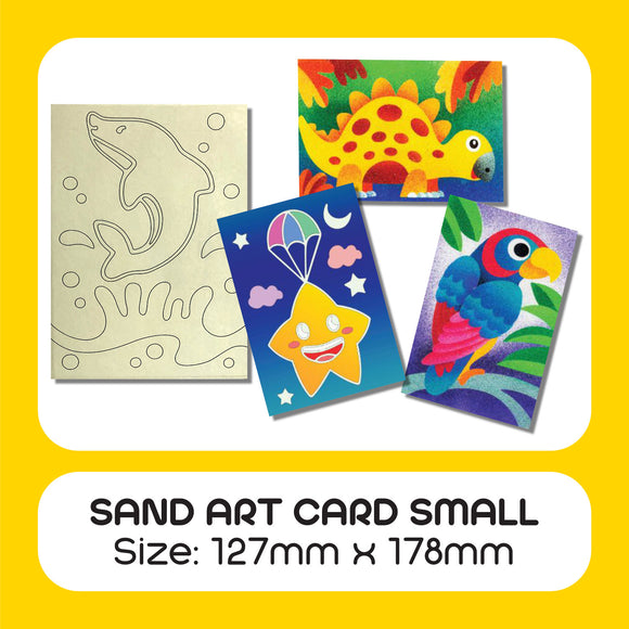 Sand Art Card Small 50pcs