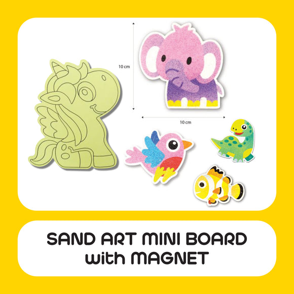 Sand Art Mini Board with Magnet 25pcs