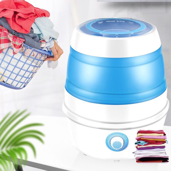 Folding Washing Machine with Spin-dry