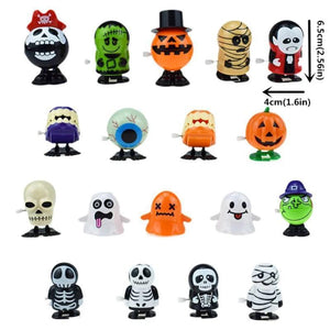 18 pcs Halloween Clockwork Jumping Ghost Toy