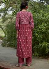 Brick Red Cotton Sara Kurta
