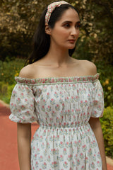 Alula White Off Shoulder Dress