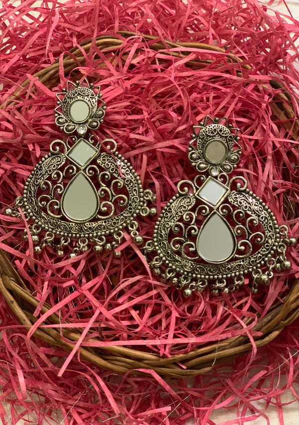 Antique Mirror Earrings