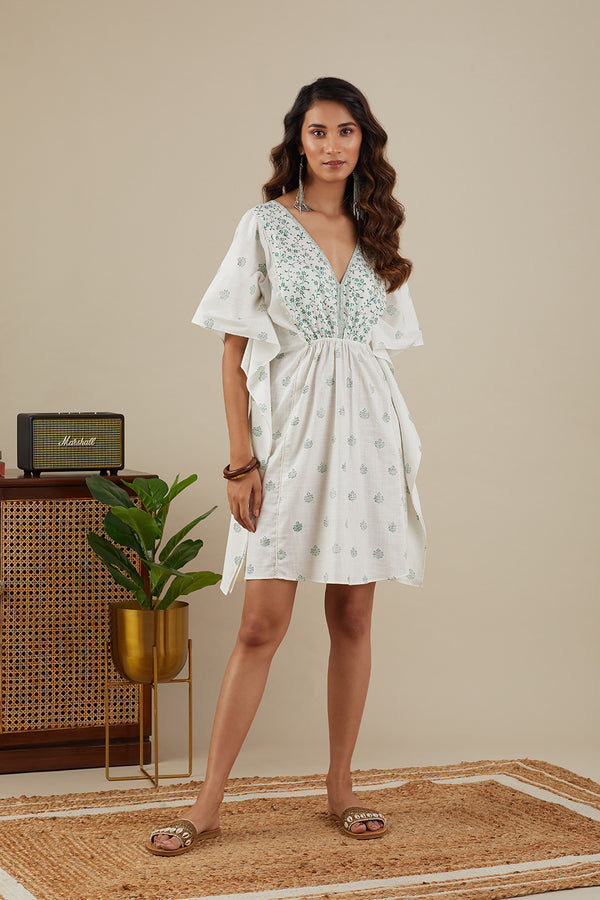 The Kaftan Dress- Leafy Green