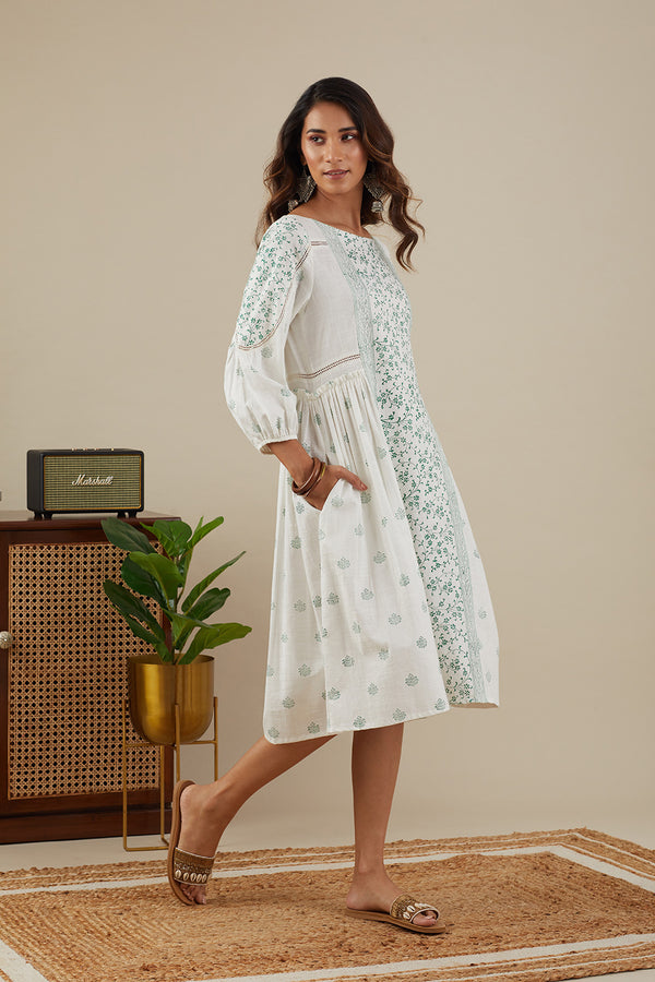 Suchaya Leaf Green Dress with Pockets