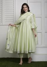 Pudina gota Anarkali set with Dupatta (set of three)