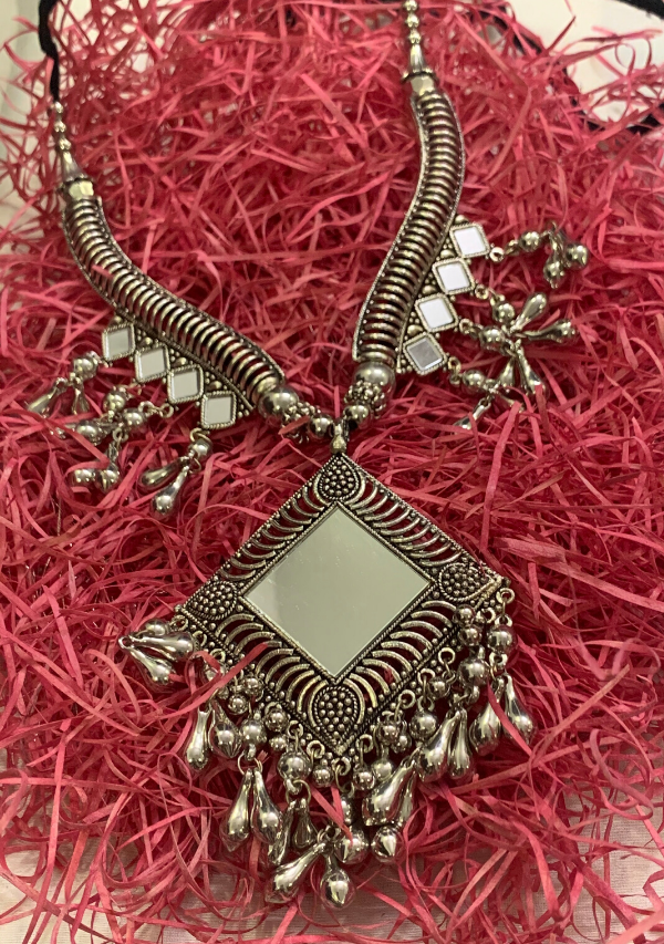 Tribal Square Mirror Neckpiece