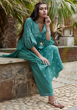 Fern Green Cotton Sara Kurta