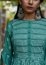 Fern Green Cotton Sriya Kurti