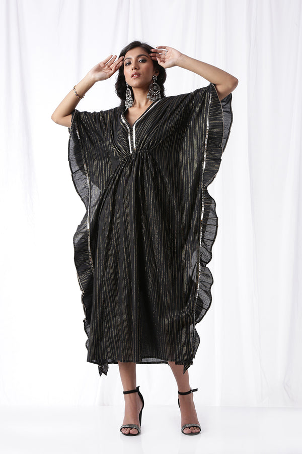 The Dancing Kaftan - Coal Black (Set of Two)
