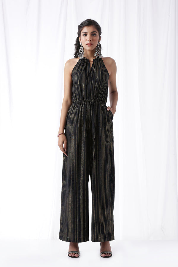 Disco Jumpsuit w/ Pockets - Coal Black