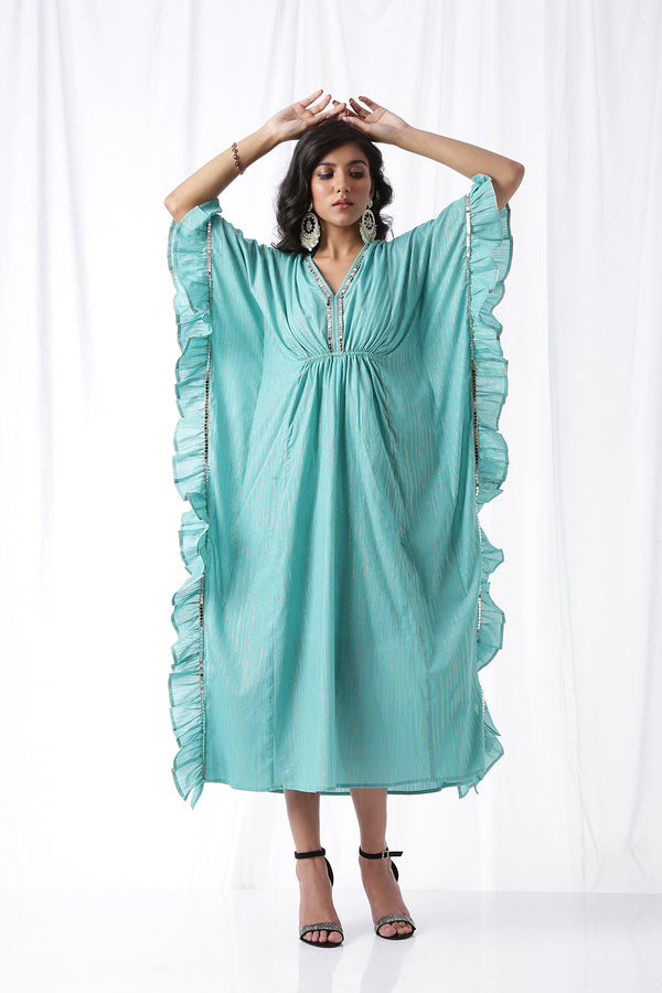 The Dancing Kaftan - Aquamarine (Set of Two)