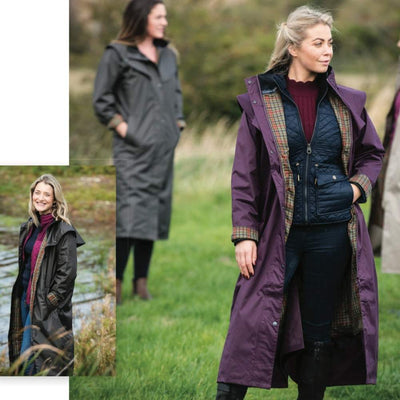 Jack Murphy Malvern Women's Long Lightweight Waterproof Coat With Hood