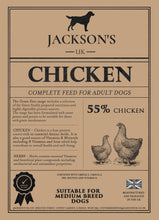 Load image into Gallery viewer, 55% CHICKEN  <BR>Medium Breed / Adult Grain Free Dog Food