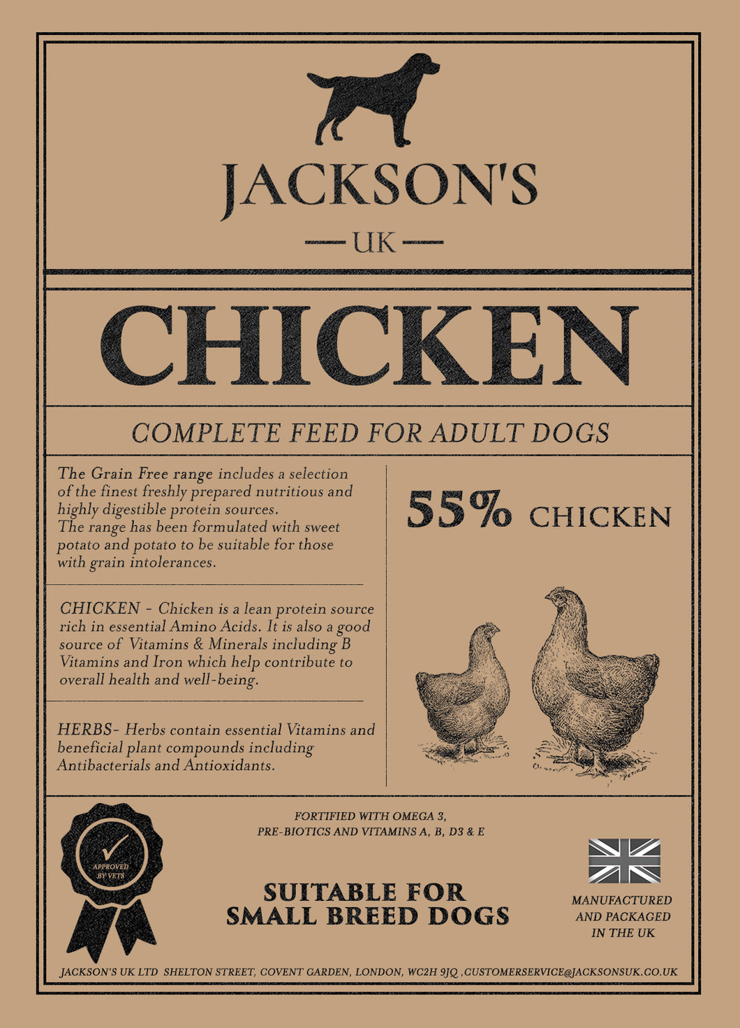 55% CHICKEN  <BR>Small Breed / Adult / Grain Free Dog Food