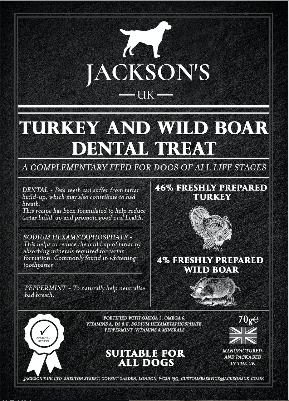 DENTAL TREAT <br> 65% Total Turkey and Wild Boar