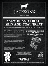 Load image into Gallery viewer, SKIN & COAT TREAT FOR DOGS <br> 60% Salmon & Trout