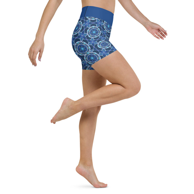 Seed Of Life Yoga Shorts