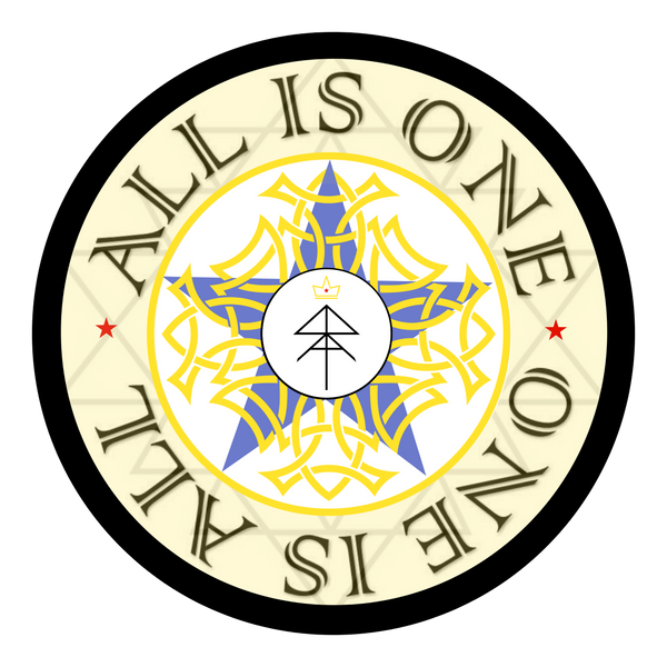 All Is One Sticker (Blue)